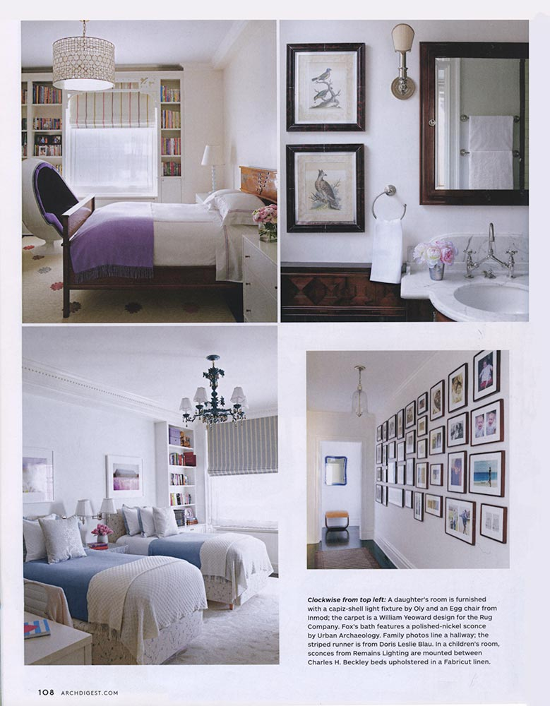 Gomez Associates featured on Architectural Digest, December 2012